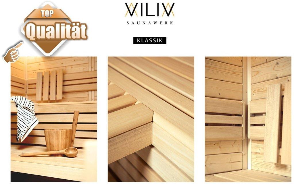 viliv klassik tiefe x breite x h he 1592 x 2200 x 2020 mm wellness sauna. Black Bedroom Furniture Sets. Home Design Ideas