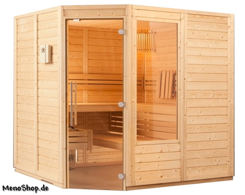 viliv sauna klassik 2 x 2 m eckeinstieg g nstiger im shop. Black Bedroom Furniture Sets. Home Design Ideas