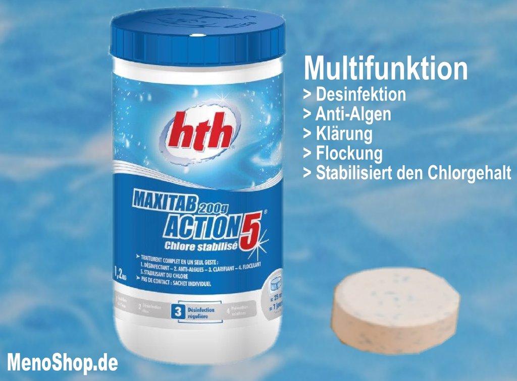 hth action chlortabletten multifunktion 200g tabletten g nstig. Black Bedroom Furniture Sets. Home Design Ideas
