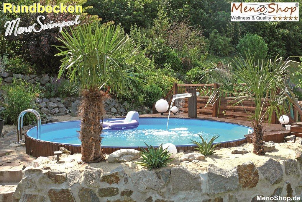 rundbecken menoswimpool spar set 5 schwimmbad. Black Bedroom Furniture Sets. Home Design Ideas