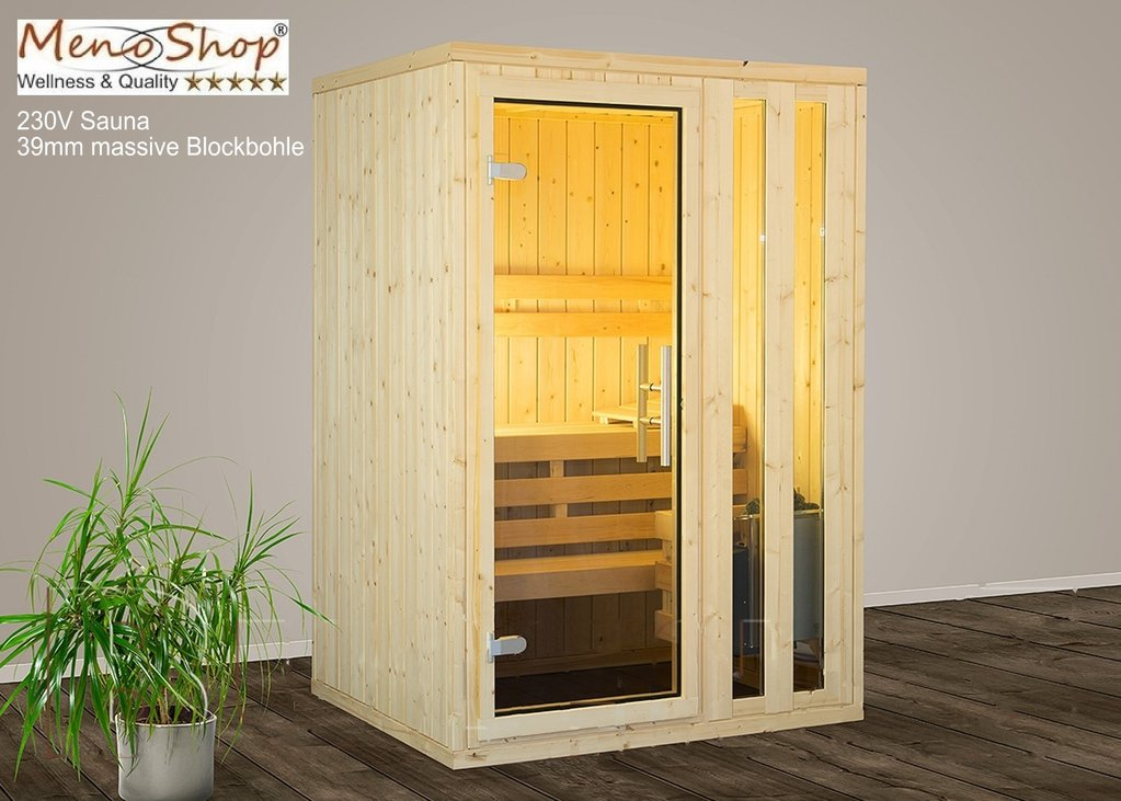 massivholz sauna 230 volt mit ofen wellness sauna. Black Bedroom Furniture Sets. Home Design Ideas
