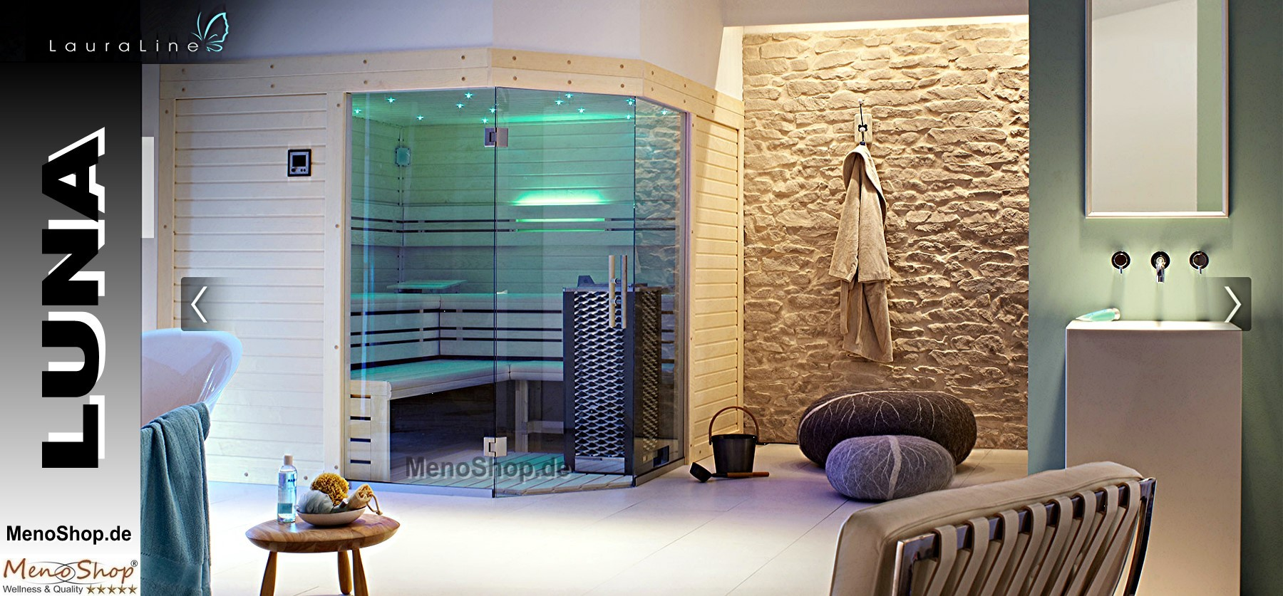 lauraline design sauna luna wellness sauna. Black Bedroom Furniture Sets. Home Design Ideas