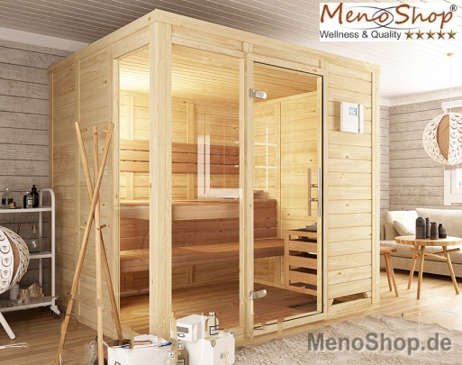 massivholz sauna menonatura polarfichte 45 60mm g nstig. Black Bedroom Furniture Sets. Home Design Ideas