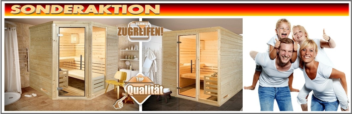 aktions sauna angebote g nstig kaufen im fachhandel sauna. Black Bedroom Furniture Sets. Home Design Ideas