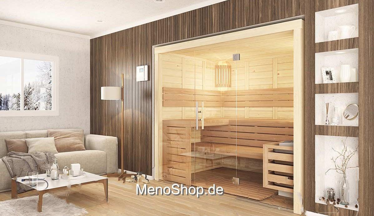 massivholz sauna menonatura polarfichte 45 60mm g nstig kaufen. Black Bedroom Furniture Sets. Home Design Ideas