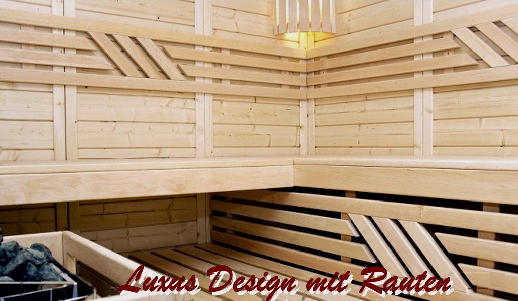 t166 x b190 massivholzsauna luxus 45 mm wellness sauna. Black Bedroom Furniture Sets. Home Design Ideas
