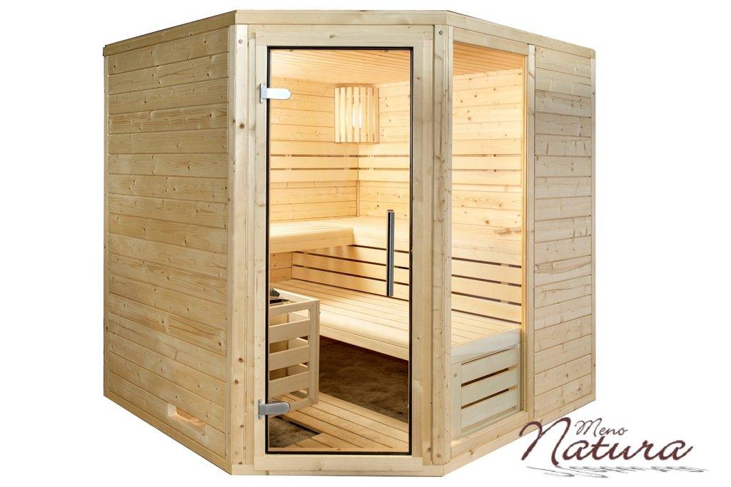 Hervorragend Massivholzsauna 45mm MenoTop Typ 1 Eckeinstieg - Fachhandel Sauna AV68