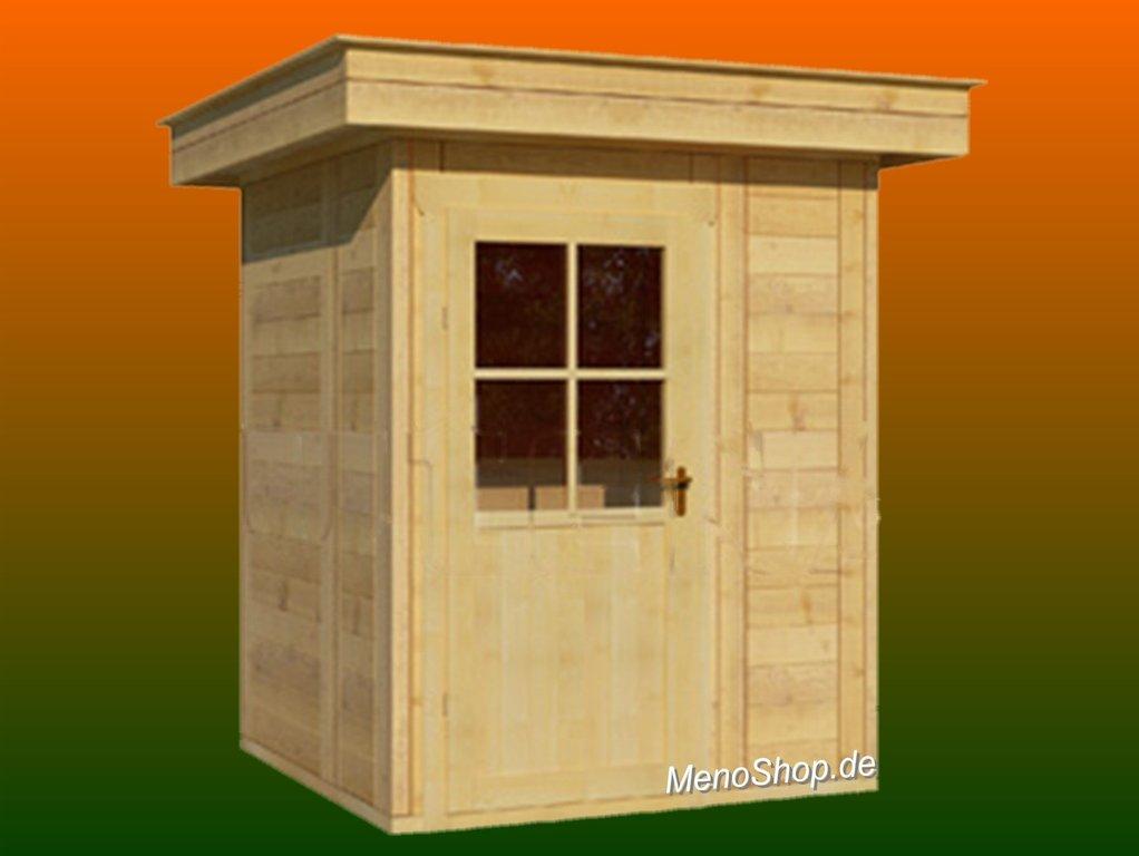 Modernes Gartenhaus Meno Typ M1 mit Flachdach - WELLNESS & SAUNA
