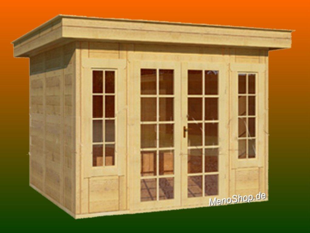 Modernes Gartenhaus Meno Typ M6 mit Flachdach - WELLNESS & SAUNA