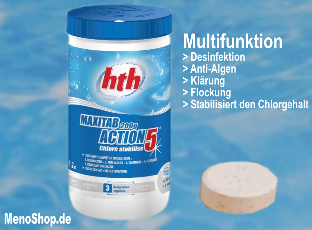 hth action chlortabletten multifunktion 200g tabletten g nstig. Black Bedroom Furniture Sets. Home Design Ideas