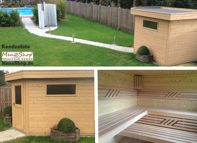 moderne aussensauna gartensauna mit vorraum sauna jana