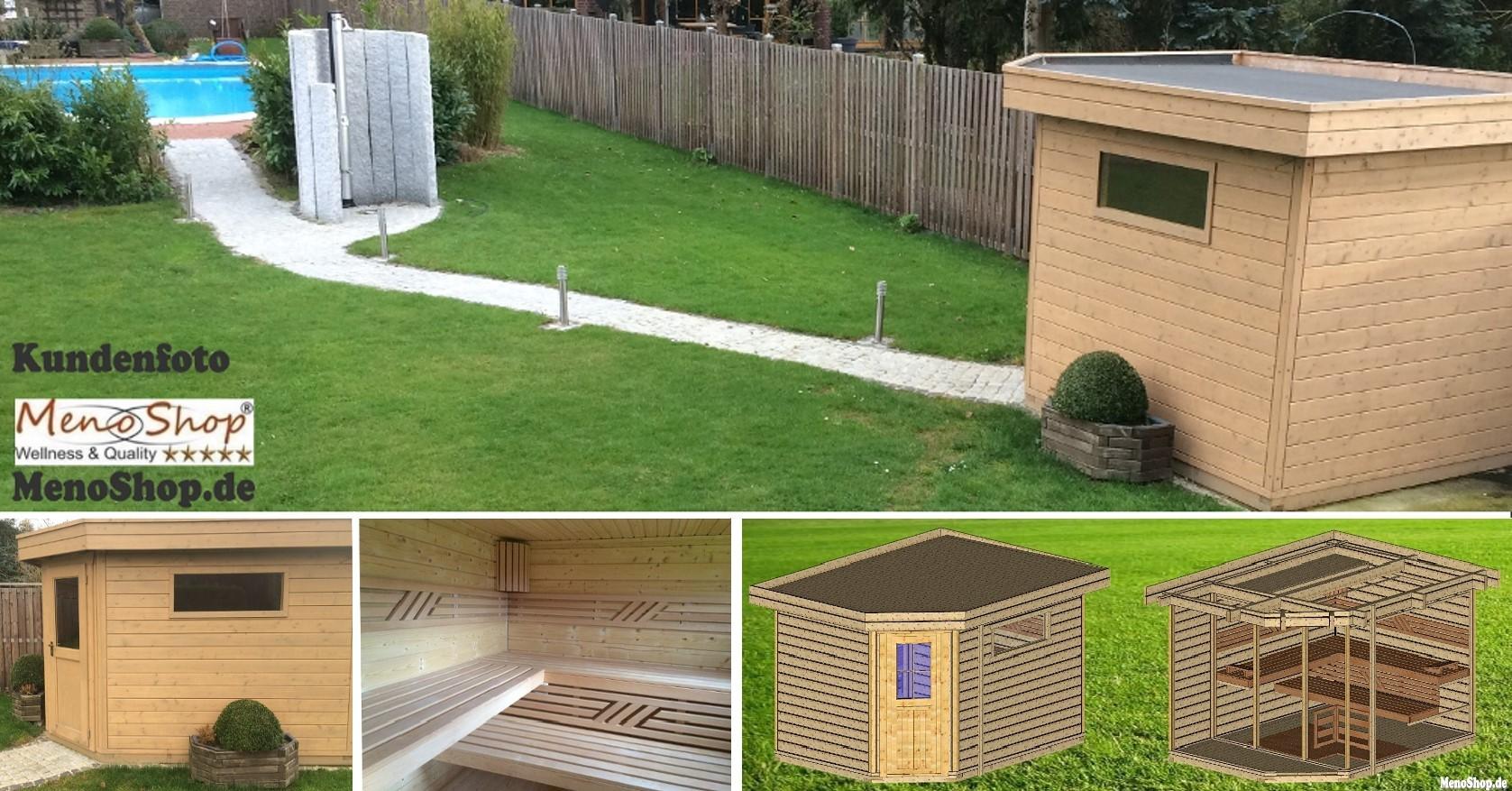 gartensauna als moderne aussensauna kaufen wellness sauna. Black Bedroom Furniture Sets. Home Design Ideas